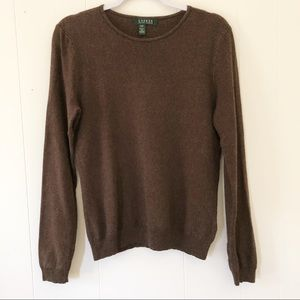 Lauren Ralph Lauren Silk & Cashmere Pullover Sweat